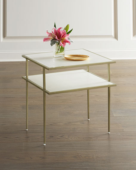 Maeve Faux Snakeskin Side Table