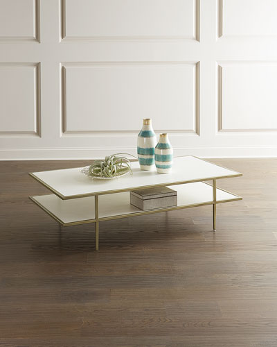 Maeve Faux Snakeskin Coffee Table