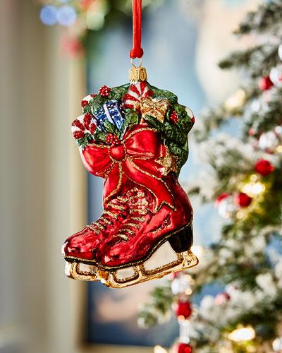 Ice Skates Christmas Ornament