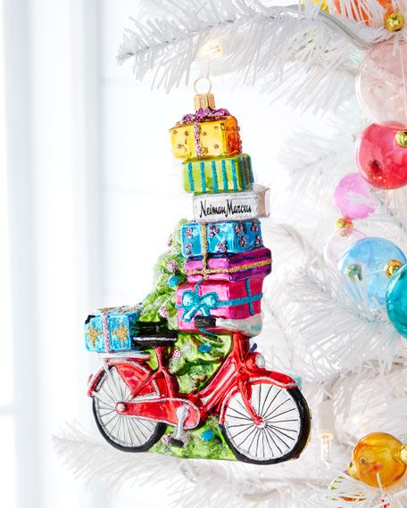 Bike With Christmas Tree Nm Christmas Ornament