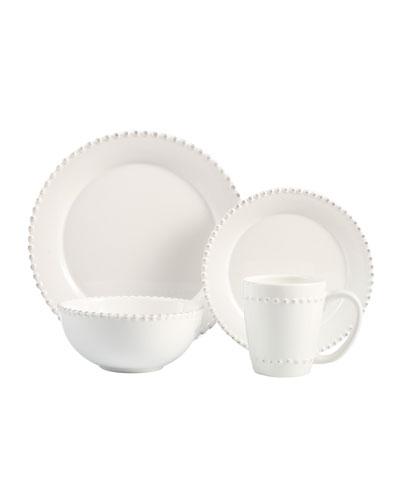 16-Piece Bianca Beaded-Edge Dinnerware
