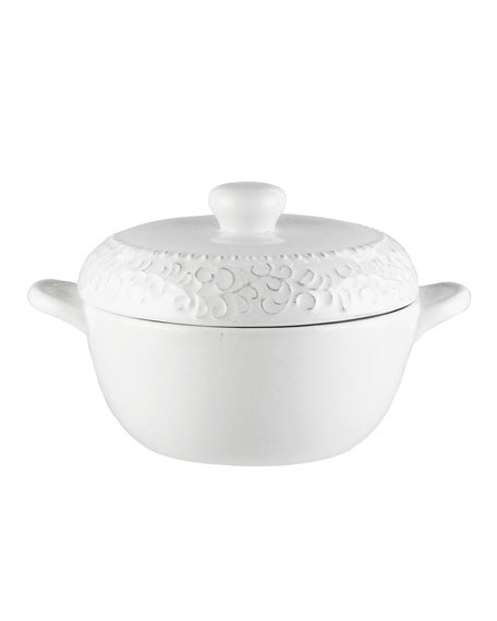 Bianca Scroll Covered Casserole