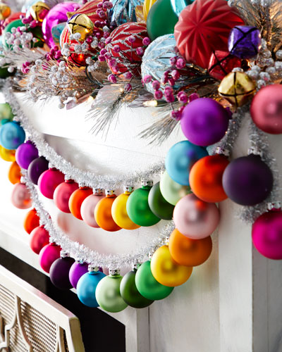 Rainbow and Tinsel Large Silver Garland