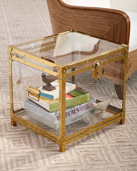 Oceane Acrylic Trunk Side Table