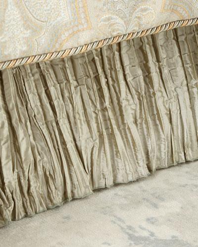 Laurel California King Pleated Silk Dust Skirt