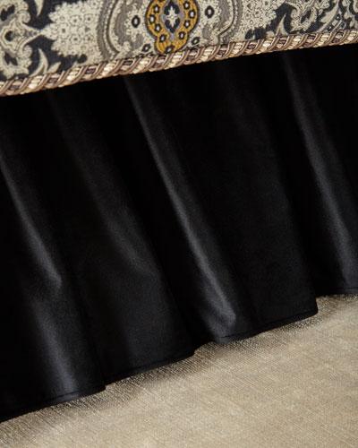 Velvet California King Dust Skirt