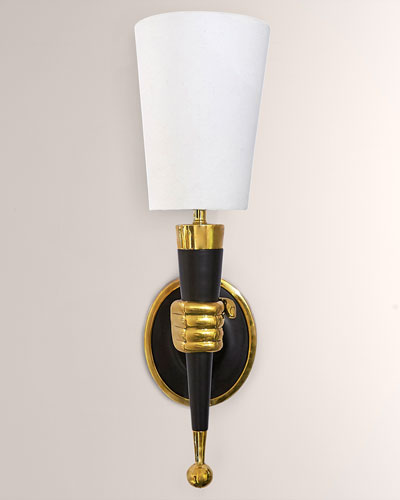 Brass Right Hand Sconce