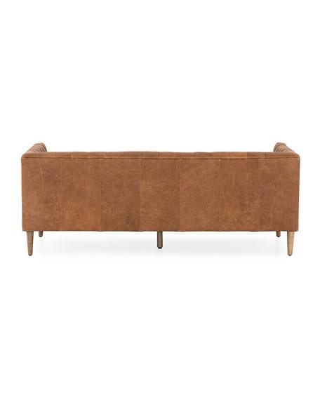 Lena Leather Tufted Sofa