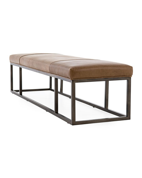 Hampshire Leather Bench