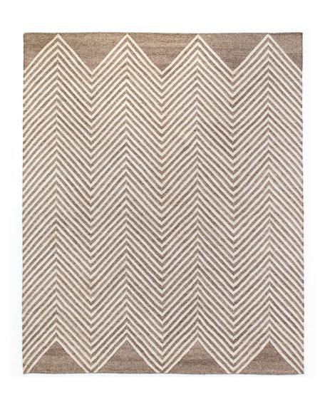 Nya Hand-Loomed Dhurrie Rug, 8' x 10'