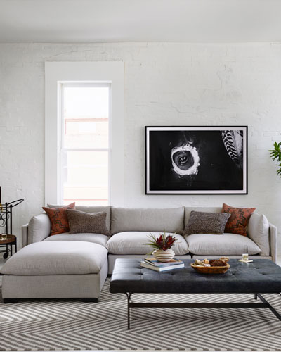 Marla 3-Piece Sectional Sofa with Ottoman