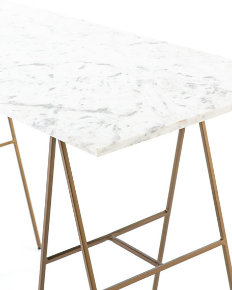 Windsor Marble & Brass Writing Desk