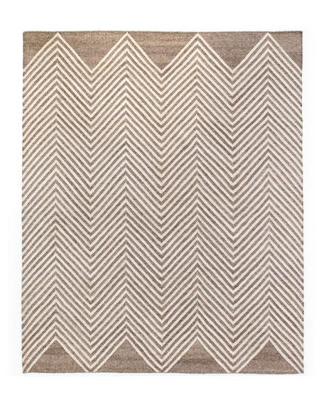 Nya Hand-Loomed Dhurrie Rug, 9' x 12'