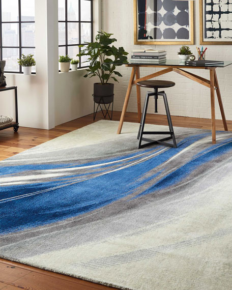 Pruitt Power-Loomed Rug, 9' x 12'