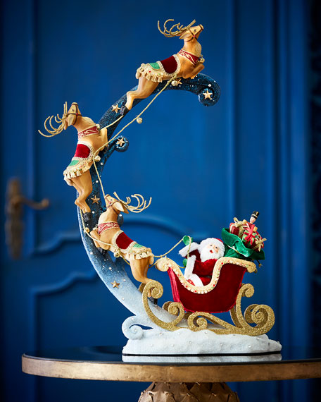 Santa Around The World Ornament Holder
