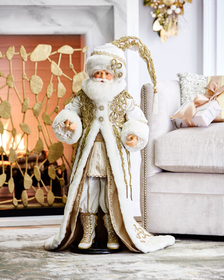 "Thread of Gold 32"" Santa Doll"