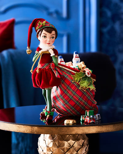 Elf with Toy & Candy Bag