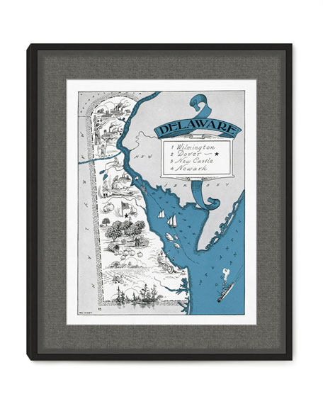 Pictorial Map of Delaware