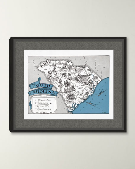Pictorial Map of South Carolina