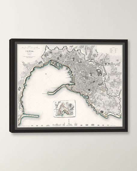 Italian Map Series - Genoa