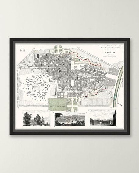 Italian Map Series - Turin