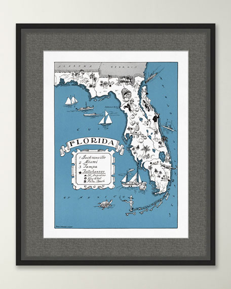 Pictorial Map of Florida