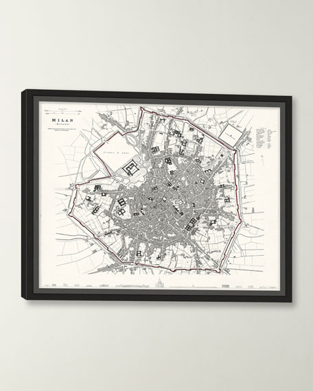 Italian Map Series - Milan