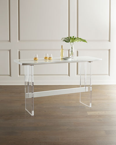 Quentin Bar Height Acrylic Table  70