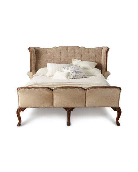 Jalen Button-Tufted King Sleigh Bed