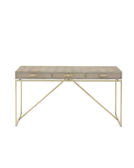Taylor Linen Wrapped Writing Desk