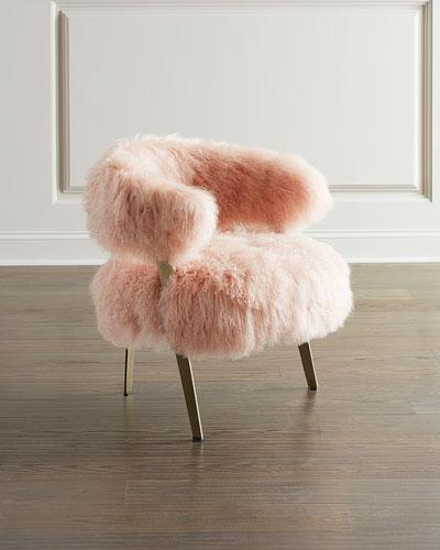 Darcy Blush Sheepskin Chair