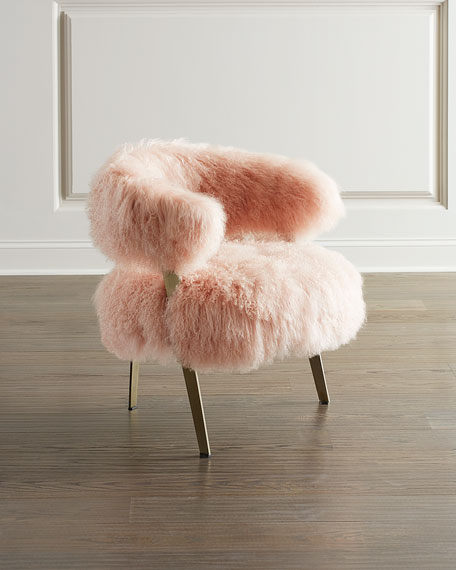 Darcy Blush Sheepskin Chair