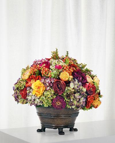 Mix Floral Arrangement in Round Planter