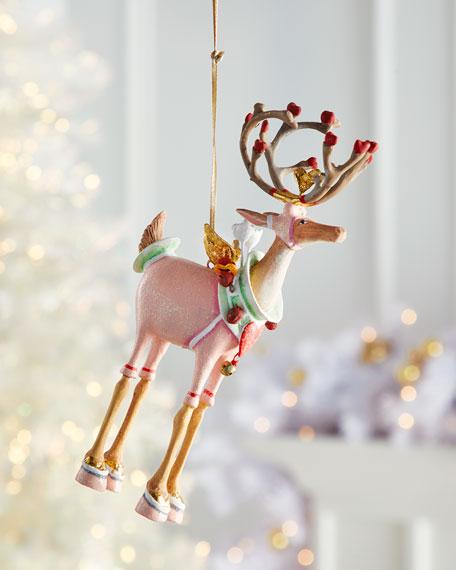 Dash Away Cupid Reindeer Ornament
