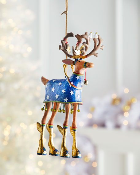 Dash Away Comet Reindeer Ornament