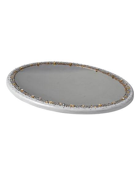 Duchess Oval Mirrored Vanity Tray