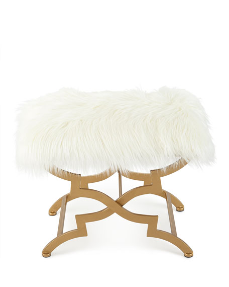 Vanessa Faux Fur Bench