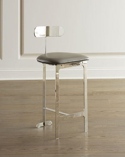 Hollis Faux Leather Counter Stool