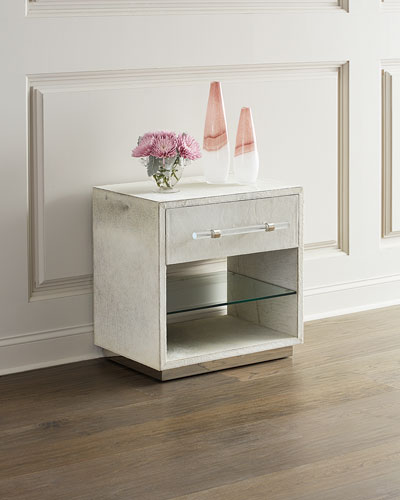 Cassian Hair on Hide Bedside Chest