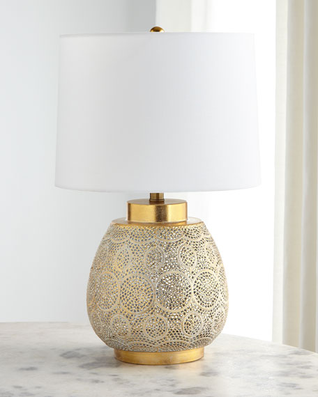 Pierced Metal Table Lamp