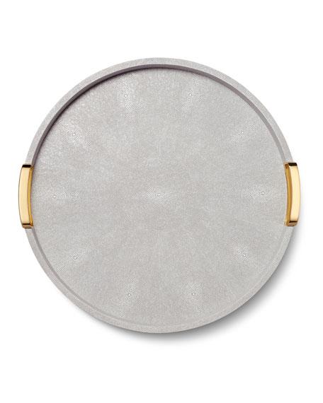 Carina Shagreen Large Round Tray