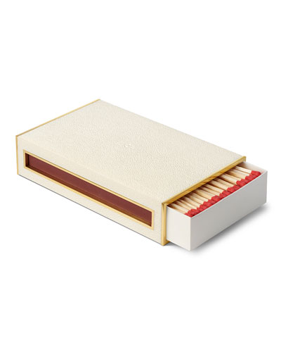 Shagreen Oversized Match Box with Striker
