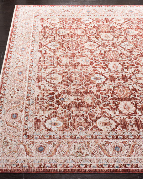 Warwick Red Power-Loomed Rug, 5' x 8'