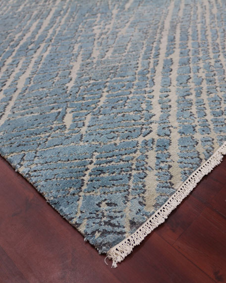 William Hand-Knotted Rug, 10' x 14'
