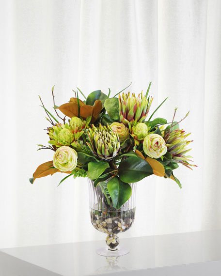 Mix Tropical in Glass Vase