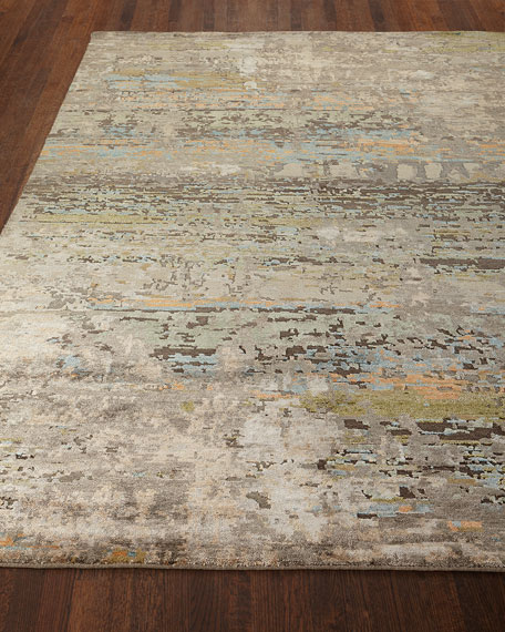 Lhasa Haze Hand-Knotted Rug, 6' x 9'