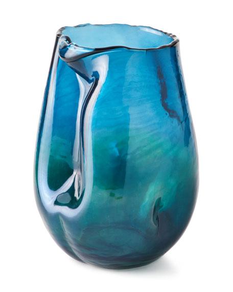 Artisanal Vase, Blue
