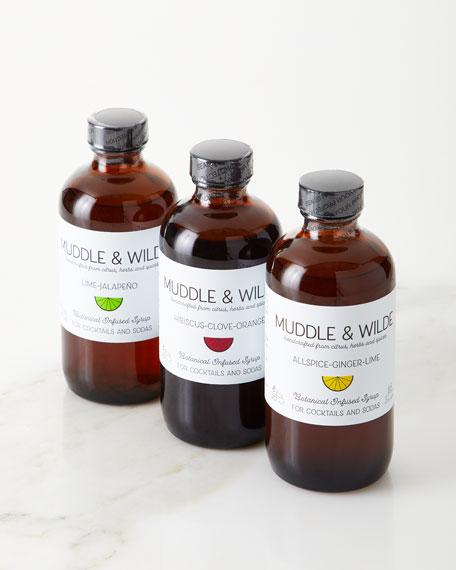 Muddle & Wilde Botanical Infused Syrup 3 Pack