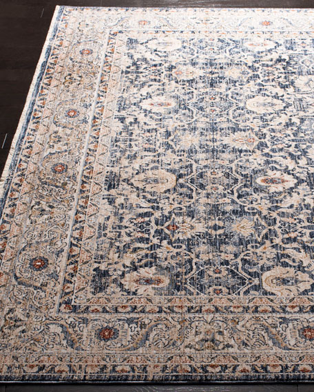 Warwick Navy Power-Loomed Rug, 4' x 6'