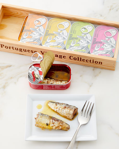 Porthos Sardines in Wood Box